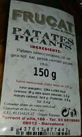 Frucat Patatas picantes - Nutrition facts