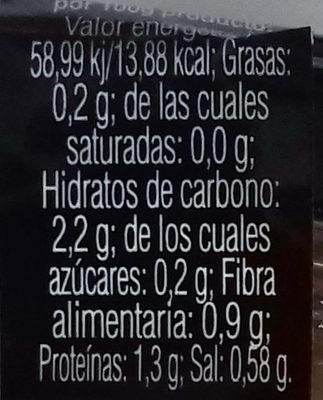 Surtido de setas - Información nutricional