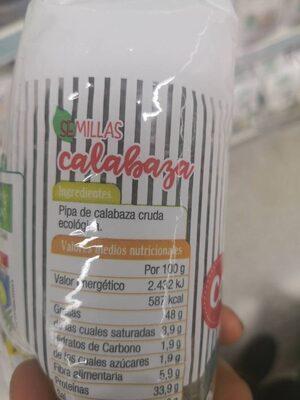 Semillas de calabaza - Ingredientes - es