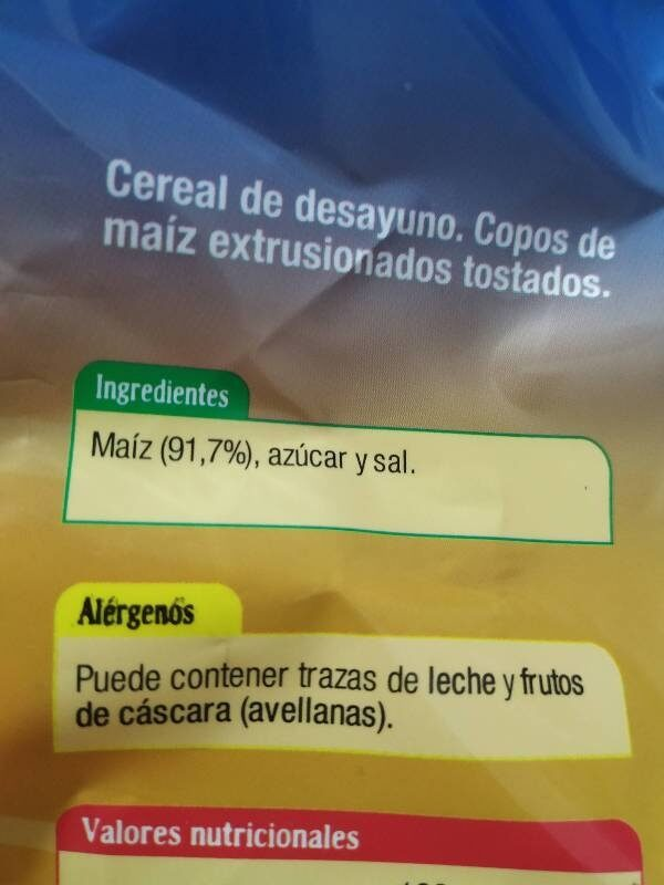Corn Flakes - Ingrediënten