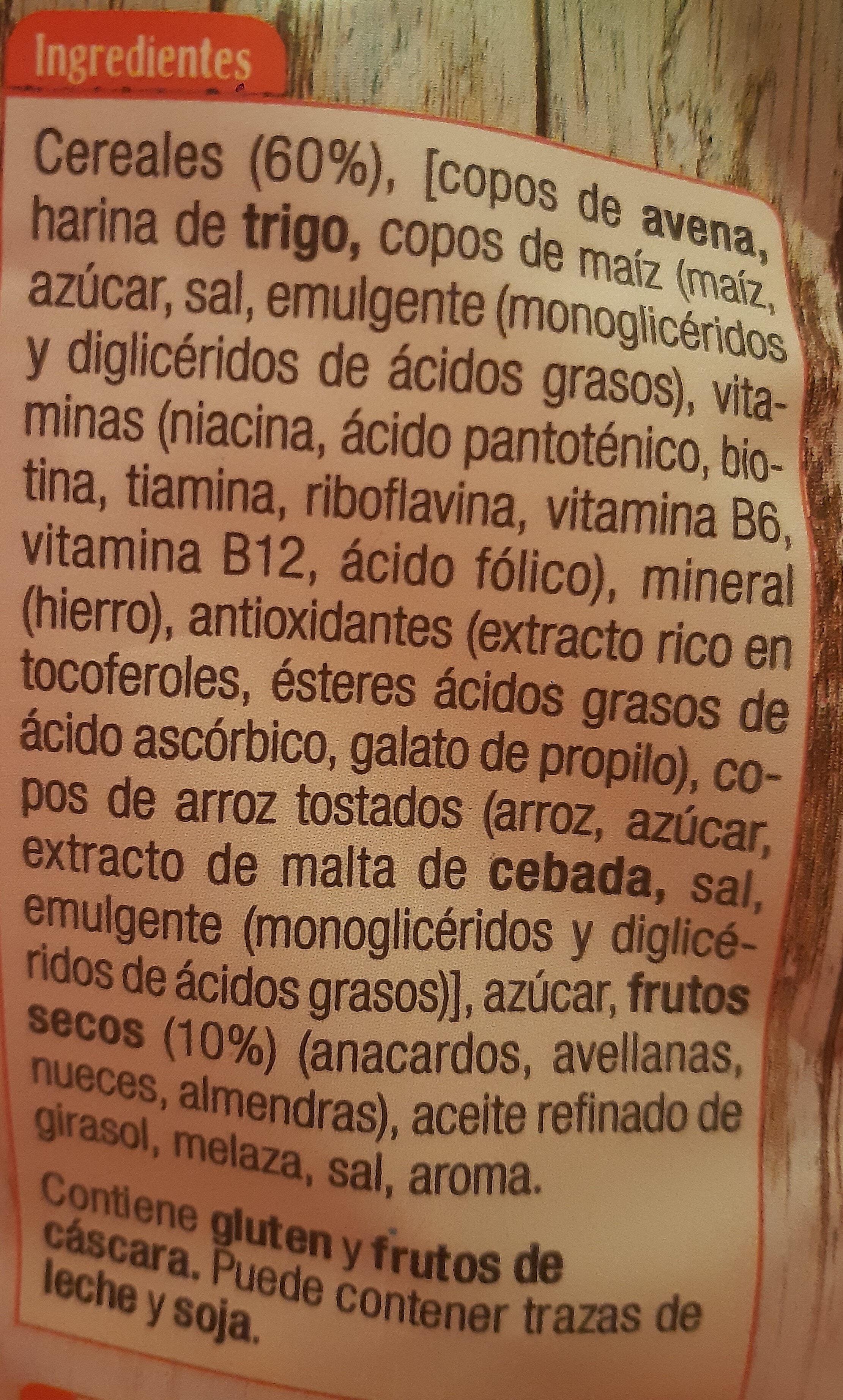 Muesli frutos secos Ahorramás - Ingredientes - es