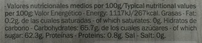 Dulce de Higo - Información nutricional - es