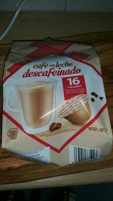 Cápsulas de café con leche descafeinado