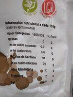 Azucar de coco superfood - Voedingswaarden - es