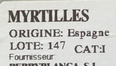 Myrtille - Ingredients