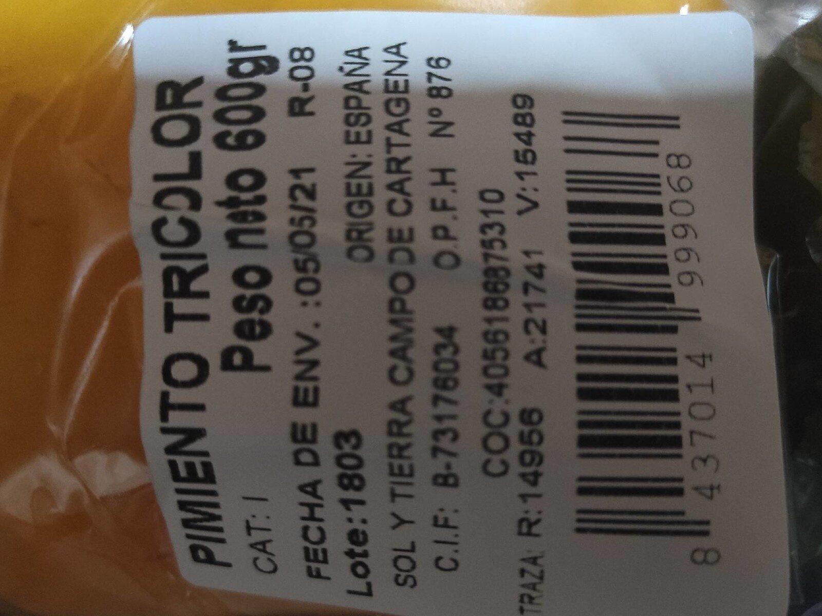 Pimientos tricolor - Nutrition facts - en