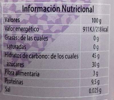 Ajo negro - Informations nutritionnelles