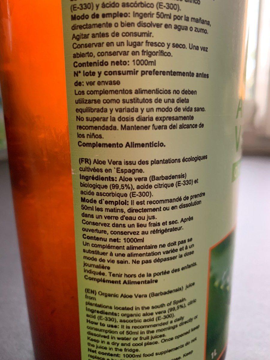 Aloe vera - Ingredientes
