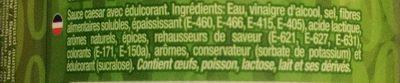 Natural Zero Cesar - Ingrédients - fr