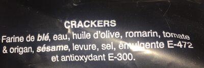 Crackers - Ingrédients