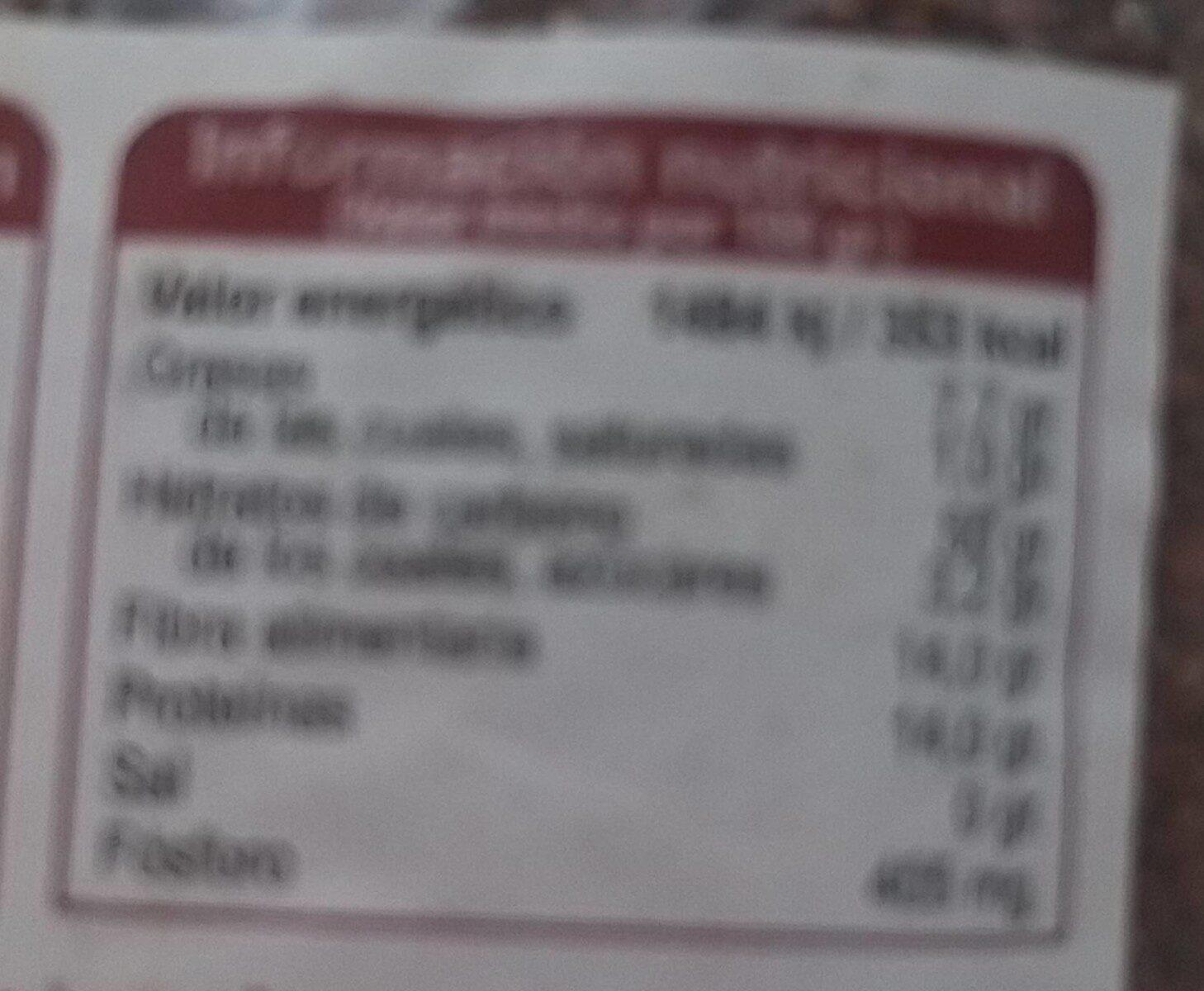 Quinoa premium - Informations nutritionnelles - es