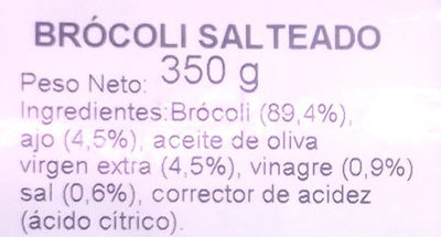 Brócoli salteado - Ingredientes