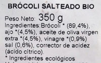 Brócoli salteado - Ingredients