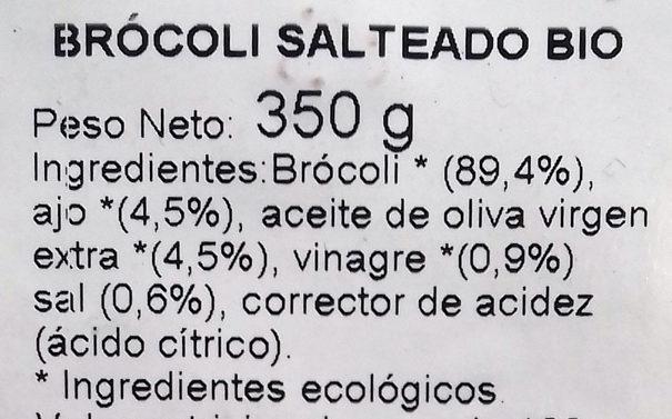 BROCOLI SALTEADO BÍO - Ingredientes
