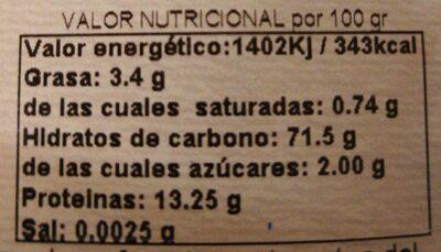 Trigo sarraceno bio en grano - Información nutricional - es