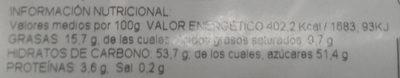 Cerezas al marrasquino - Informations nutritionnelles