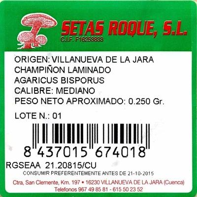 Champiñones laminados - Ingredients