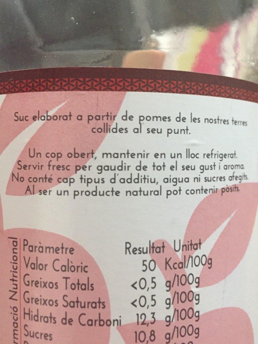 Mooma jus pomme gala - Ingrediënten - fr