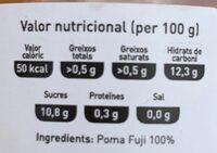 Suc de poma fuji - Voedigswaarden
