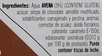Postre de avena sabor chocolate - Ingredients