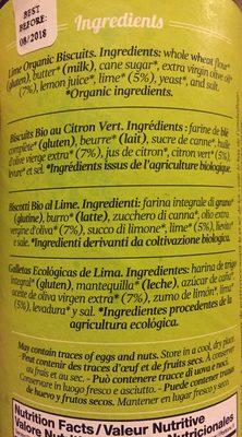 Biscuits Bio Au Citron Vert - Ingredientes - fr