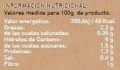 Crema de Calabaza ecológica - Informations nutritionnelles