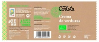 Crema de Verduras ecológica - Información nutricional