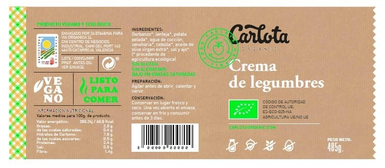 Crema de legumbres - Ingredients