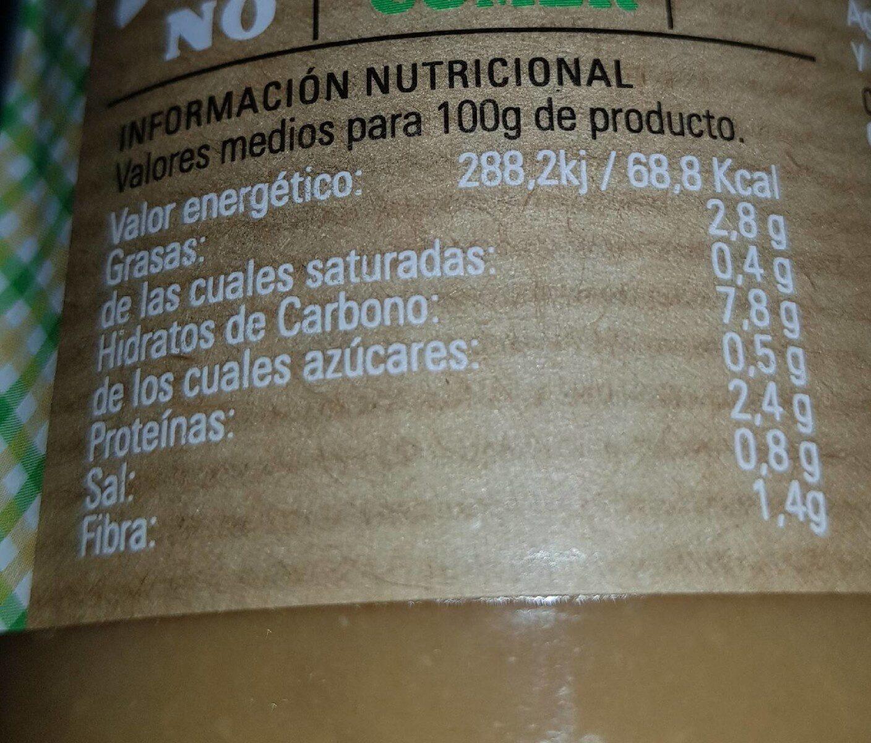 Crema de legumbres - Informació nutricional
