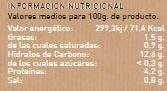 Garbanzos con Espinacas - Información nutricional