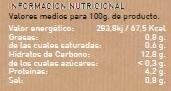 Alubias con Verduras - Voedingswaarden