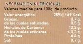 Lentejas con Verduras - Nutrition facts - es
