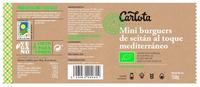 Mini Burguers de Seitán al toque Mediterráneo ecológicas - Ingredientes