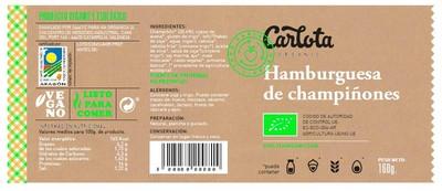 Hamburguesas de Champiñones vegetales y ecológicas - 2