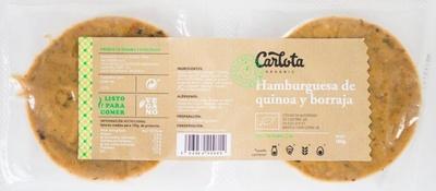 Hamburguesas de quinoa y borraja vegetales y ecológicas - Produit