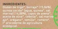 Hamburguesas de quinoa y borraja vegetales y ecológicas - Ingrédients