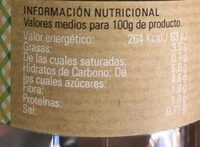 Crema de Zanahoria - Nutrition facts