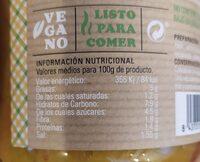 Verduras al curry - Nutrition facts