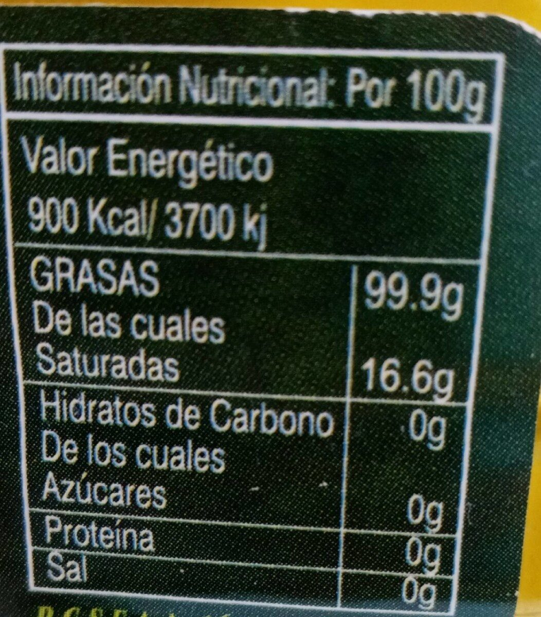 Aceite de oliva virgen extra - Nutrition facts - es