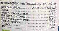 Biochoc crema de cacao y menta - Valori nutrizionali - es