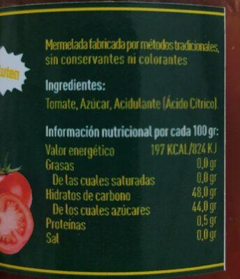 Mermelada de tomate - Nährwertangaben