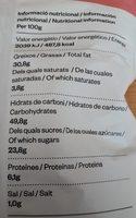 Xips Xirivia, Moniato Taronja I Remolatxa Mikso - Informació nutricional