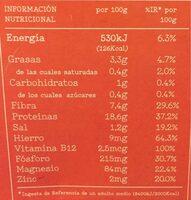 Heura. Tacos especiados - Información nutricional