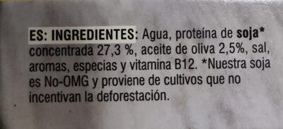 Bocados originales - Ingredients - es