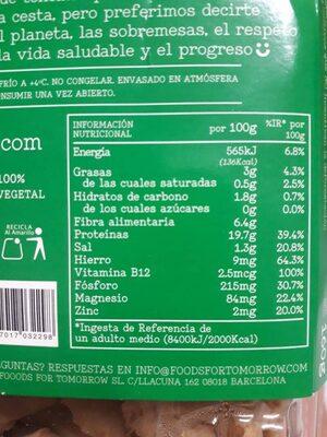 Bocados originales - Informations nutritionnelles