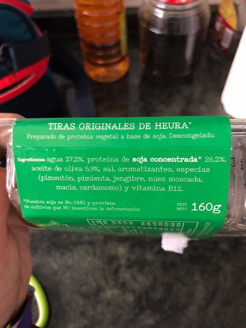 Tiras de soja - Ingredientes - es