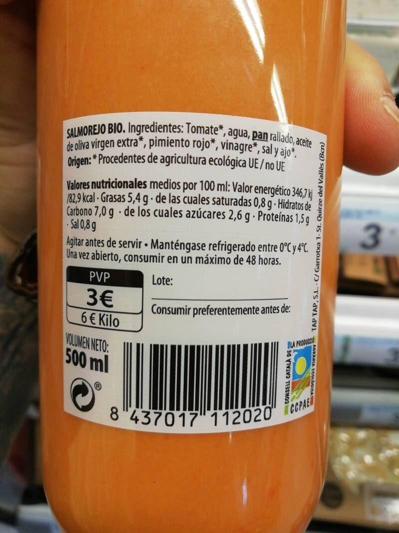 Salmorejo - Ingredientes - es