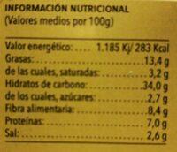 Calabizo - Informations nutritionnelles