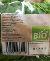 Espinacas - Información nutricional - es
