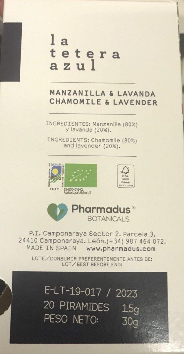 Manzanilla & lavanda - Información nutricional - es